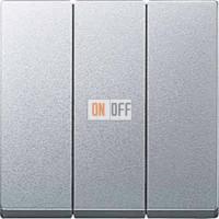 Выключатель трехклавишный 10 А / 250 В~, цвет алюминий MTN311900 - MTN311960