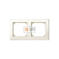 Рамка двойная, для горизон./вертикал. монтажа Merten M-Smart, кремовый глянцевый MTN478244