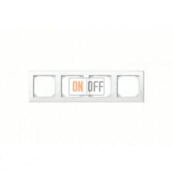 Рамка четверная, для горизон./вертикал. монтажа Merten M-Smart, белый глянцевый MTN478419