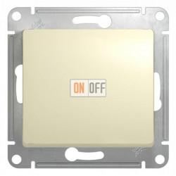 Выключатель одноклавишный проходной (вкл/выкл из 2-мест), Schneider Glossa бежевый GSL000261