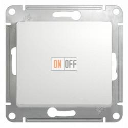 Выключатель одноклавишный проходной (вкл/выкл из 2-мест) Schneider Glossa белый GSL000161
