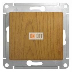 Выключатель одноклавишный перекрестный (вкл/выкл из 3-х мест), Schneider Glossa дуб GSL000571