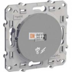 USB розетка для зарядки Schneider Odace алюминий S53R408
