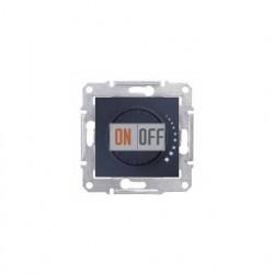 Поворотно-нажимной светорегулятор (диммер) 60-500 Вт/ВА, проходной Schneider Sedna, графит SDN2200570