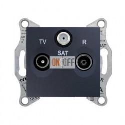 Розетка TV/FM/SAT  проходная, 4 dB Schneider Sedna, графит SDN3501470
