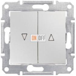 Выключатель для жалюзи  с механической блокировкой Schneider Sedna, алюминий SDN1300360