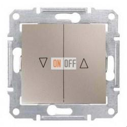 Выключатель для жалюзи  с механической блокировкой Schneider Sedna, титан SDN1300368