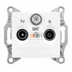 Розетка TV/FM/SAT  проходная, 4 dB Schneider Sedna, белый SDN3501421