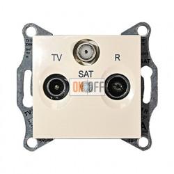Розетка TV/FM/SAT проходная, 4 dB Schneider Sedna, бежевый SDN3501447