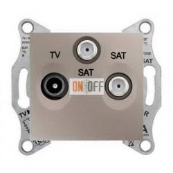 Розетка TV/FM/SAT проходная, 4 dB Schneider Sedna, титан SDN3501468