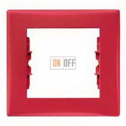 Рамка одноместная Schneider Sedna (красный) SDN5800141