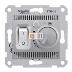Терморегулятор  для теплого пола Schneider Sedna, алюминий SDN6000360