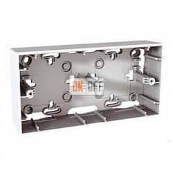 Коробка двойная для накладного монтажа Schneider Unica белый MGU8.004.18