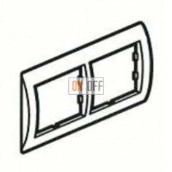 Рамка двойная, для гориз./вертик. монтажа Schneider Unica, кремовый глянец MGU2.004.25