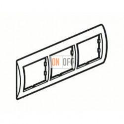 Рамка тройная, для гориз./вертик. монтажа Schneider Unica, белый-серебро MGU2.006.18 - MGU4.000.60 - MGU4.000.60 - MGU4.000.60