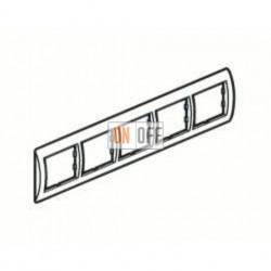 Рамка пятерная, для гориз./вертик. монтажа Schneider Unica, белый-кремовый MGU2.010.18 - MGU4.000.59 - MGU4.000.59 - MGU4.000.59 - MGU4.000.59 - MGU4.000.59