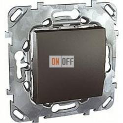 Выключатель одноклавишный, универс. (вкл/выкл с 2-х мест) 10 А / 250 В~  Schneider Unica графит MGU5.203.12ZD