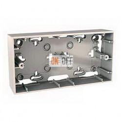 Коробка двойная для накладного монтажа Schneider Unica кремовый MGU8.004.25