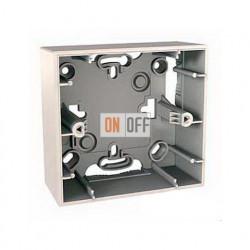 Коробка одинарная для накладного монтажа Schneider Unica кремовый MGU8.002.25
