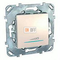Светорегулятор клавишный универсальный 20-350 Вт. для ламп накал. и низковольтн.галог.ламп, 3-х проводное подключение Schneider Unica кремовый MGU5.515.25ZD