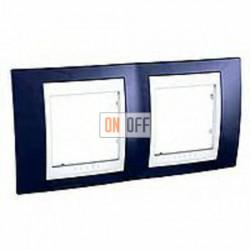 Рамка двойная, для горизонт. монтажа Schneider Unica Хамелеон индиго-белый MGU6.004.842
