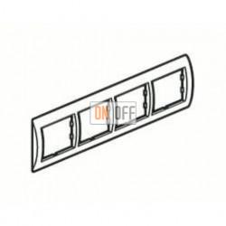 Рамка четверная, для горизонт. монтажа Schneider Unica Хамелеон коричневый-белый MGU6.008.874