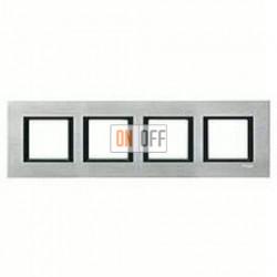 Рамка четверная, для гориз./вертик. монтажа Schneider Unica Class серебристый алюминий MGU68.008.7A1