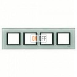 Рамка четверная, для гориз./вертик. монтажа Schneider Unica Class матовое стекло MGU68.008.7C3