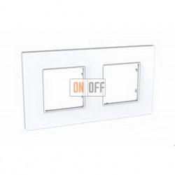 Рамка Schneider Unica Quadro двухместная, цвет белый MGU2.704.18