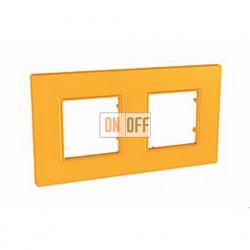 Рамка Schneider Unica Quadro двухместная, цвет оранж MGU4.704.29