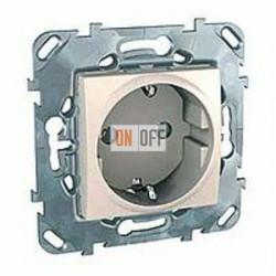 Розетка с заземляющими контактами 16 А / 250 В~ Schneider Unica кремовый MGU5.036.25ZD