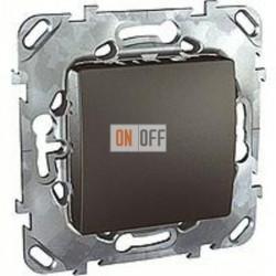 Заглушка с опорной пластиной  Schneider Unica графит MGU5.866.12ZD