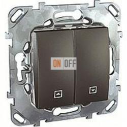 Выключатель управления жалюзи клавишный, 10 А / 250 В~ Schneider Unica графит MGU5.208.12ZD