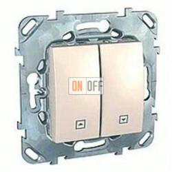 Выключатель управления жалюзи клавишный, 10 А / 250 В~ Schneider Unica кремовый MGU5.208.25ZD