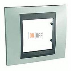Рамка одинарная Schneider Unica TOP флюорит-графит MGU66.002.294