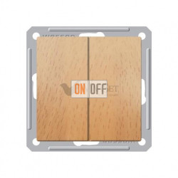 Переключатель двухклавишный (вкл/выкл с 2-х мест) 16 А 250 В, Schneider W59 бук VS616-256-8-86