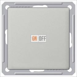 Выключатель одноклавишный перекрестный (вкл/выкл с 3-х мест) 16 А 250 В, Schneider W59 матовый хром VS716-158-5-86