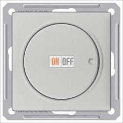 Светорегулятор поворотно-нажимной 600 Вт, 230 В для галог. ламп и накаливан., Schneider W59 матовый хром SR-5S2-5-86