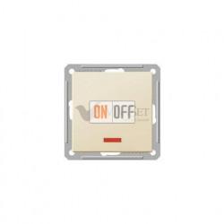 Выключатель одноклавишный перекрестный с подсветкой (вкл/выкл с 3-х мест) 16 А 250 В, Schneider W59 слоновая кость VS716-159-2-86