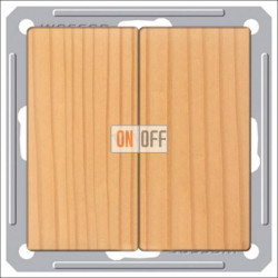 Переключатель двухклавишный (вкл/выкл с 2-х мест) 16 А 250 В, Schneider W59 сосна VS616-256-7-86