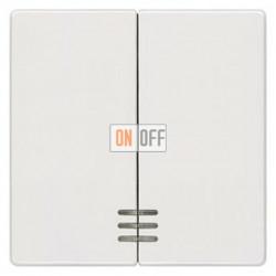 Выключатель 2-клав. с подсветкой (белый) 5TG6204 - 5TG7333 - 5TA2155