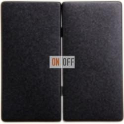 Выключатель 2-клав. (черный-металлик) 5TG6225 - 5TA2155