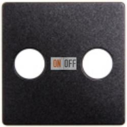 Розетка TV проходная (черный-металлик) S2900-10 - 5TG1223