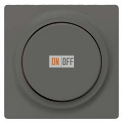 Светорегулятор поворотный 50-400 Вт. (черный-металлик) 5TC8903 - 5TC8256