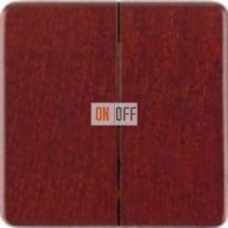 Delta natur Выключатель 2-клав. (красный клен) 5TG7685 - 5TA2155