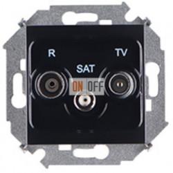 Розетка R-TV-SAT одиночная, винтовой зажим (чёрный) 1591466-032