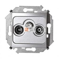 Розетка R-TV-SAT одиночная, винтовой зажим (алюминий) 1591466-033