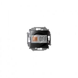 Регулятор напряжения поворотно-нажимной, 500Вт, 230В Simon 15, винтовой зажим, графит 1591311-038