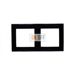 Рамка на 2 поста, чёрный 1500620-032