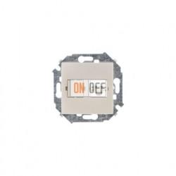 Розетка телефонная одинарная RJ11, винтовой зажим, шампань 1591480-034